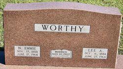 "Nancy Emma ""Emmie"" <I>Langley</I> Worthy"