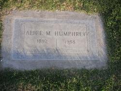 Alice Earley <I>Miller</I> Humphrey
