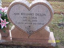 Ann <I>Williams</I> Dillon