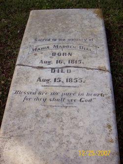 Maria <I>Madden</I> Dial