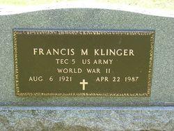 Francis M Klinger