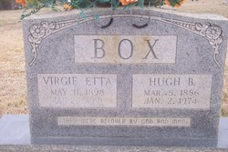 Virgie Etta <I>Lewellen</I> Box