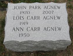 Lois <I>Carr</I> Agnew