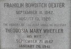 Theodosia Mary <I>Wheeler</I> Dexter