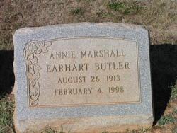 "Ann Elizabeth ""Annie"" <I>Marshall Earhart</I> Butler"