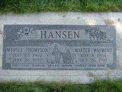 Walter Wayment Hansen