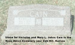 Mary L <I>Johns</I> Cain