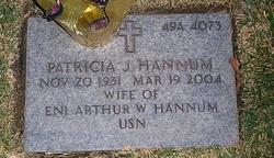 """Patricia Joyce """"Pat"""" <I>Burge</I> Hannum"""
