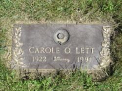 Carole Odette <I>Johnston</I> Lett