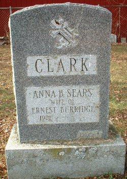 Anna B <I>Sears</I> Burridge-Clark