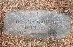 Juliana <I>Gauthier</I> Choquette