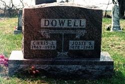 Josie S. <I>Lowe</I> Dowell