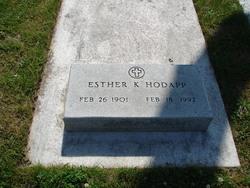 Esther K <I>Ziegler</I> Hodapp