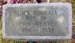 Edna <I>Kimball</I> Weaver