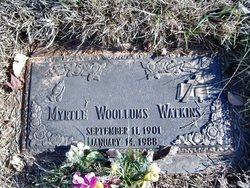 Myrtle <I>Woollums</I> Watkins