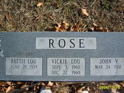 Bettie Lou <I>Miller</I> Rose