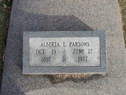 Alberta L. <I>Simon</I> Parsons