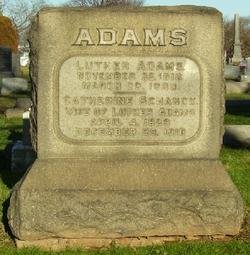 Catherine <I>Schanck</I> Adams