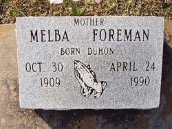 Melba <I>Duhon Bergeron</I> Foreman