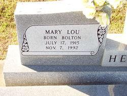 Mary Lou <I>Bolton</I> Hebert