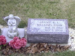 Jannie K. L. <I>Williams</I> Shaw