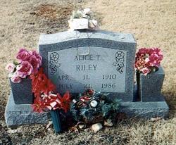 Alice T. <I>Harrod</I> Riley