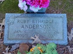 Ruby <I>Ethridge</I> Anderson