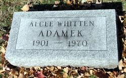 Alcee <I>Whitten</I> Adamek