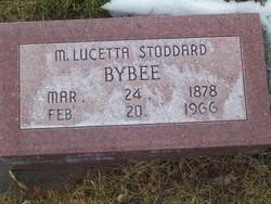 Mary Lucetta <I>Stoddard</I> Bybee