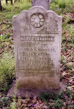 Mary E <I>Carman</I> McGowan