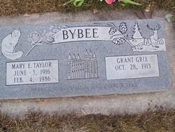 Mary Ellen <I>Taylor</I> Bybee