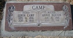 Annie <I>Buxton</I> Camp