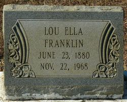 Lou Ella <I>Williams</I> Franklin