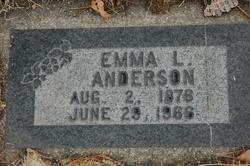 Emma Augusta <I>Lundberg</I> Anderson