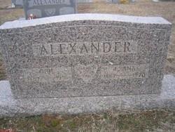 Ocie Eva <I>Dowdy</I> Alexander