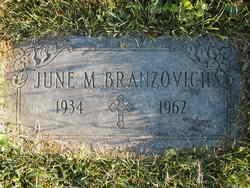 June Marie Branzovich