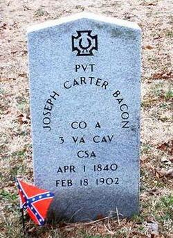 Pvt Joseph Carter Bacon