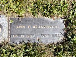 Ann D <I>Goga</I> Branzovich