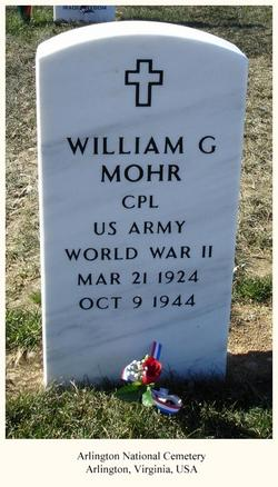 Corp William G Mohr