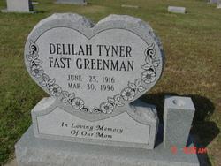 Delilah Christine Tyner Greenman 1916 1996 Find A