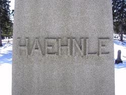 Mary F <I>Baltz</I> Haehnle