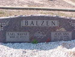 Jean Ann <I>Williams</I> Balzen