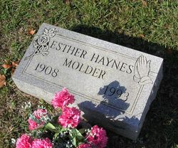 Esther <I>Haynes</I> Molder