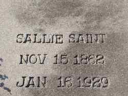 """Sarah Ann """"Sallie"""" <I>Payne</I> Saint"""