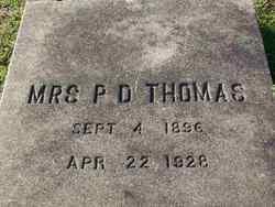 Mrs P. D. Thomas