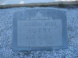 "Sophronia Dickie ""Fronie"" <I>Shumate</I> Autry"