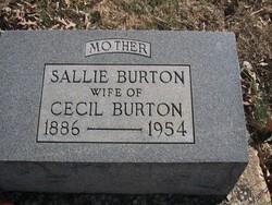 Sallie <I>Coleman</I> Burton