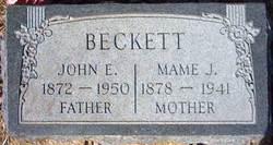 """Mary Josephine """"Mame"""" <I>Ihler</I> Beckett"""