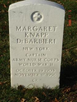 Capt Margaret <I>Knapp</I> DeBarbieri