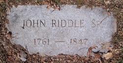 Col John Riddle, Sr